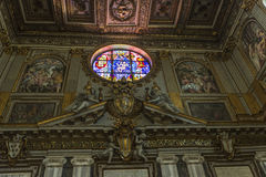 Interior of the Basilica di Santa Maria Maggiore in Rome, Italy. Royalty Free Stock Image