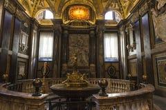 Interior of the Basilica di Santa Maria Maggiore in Rome, Italy. Royalty Free Stock Images