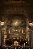 Interior of Basilica di Santa Maria in Trastevere in Rome Royalty Free Stock Images