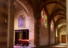 Interior of Basilica in Echternach Royalty Free Stock Photos