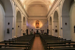 Interior of Basilica of the Holy Sacrament in Colonia del Sacram Royalty Free Stock Photography