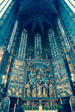 Interior of basilica in Krakow, Poland royalty free stock image