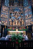 Interior of basilica in Krakow, Poland royalty free stock photos