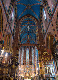 Interior of basilica in Krakow, Poland Royalty Free Stock Photo