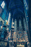 Interior of basilica in Krakow, Poland Royalty Free Stock Images