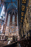 Interior of basilica in Krakow, Poland Stock Image