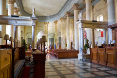 The interior of the Basilica of Our Lady of Mount Carmel, Vallet. Valletta, MALTA - JULY 25, 2015: The interior of the Basilica of Our Lady of Mount Carmel, a Stock Images
