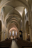 Interior of the Basilica Sacre Coeur cathedral in Paris, France Royalty Free Stock Photo