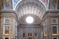 Basilica of Saint Andrew in Mantua, Italy. Interior of Basilica of Saint Andrew in Mantua, Italy Royalty Free Stock Photo