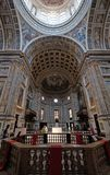 Interior of the basilica of Saint Andrew in Mantua, Italy.  Royalty Free Stock Images