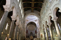 Interior of the Basilica of Saint-Martin, Tours, France Stock Images