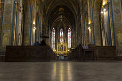 Interior of basilica of saint Peter and Paul in Prague Royalty Free Stock Photography