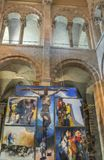 Interior of Basilica of Saint Sernin , Toulouse, France royalty free stock photography