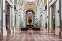 Interior of Basilica of San Domenico in Bologna Stock Image