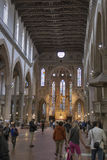Interior of the Basilica of Santa Croce or Basilica of the Holy Royalty Free Stock Photo