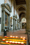 The interior of the Basilica of Santa Croce in Florence Stock Photos