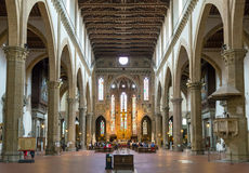 The interior of the Basilica of Santa Croce in Florence, Italy Royalty Free Stock Photos