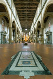 The interior of the Basilica of Santa Croce in Florence, Italy Royalty Free Stock Image