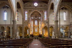 The interior of the Basilica of Santa Croce Royalty Free Stock Images
