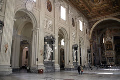 Interior of Basilica of St. John the Lateran Royalty Free Stock Image