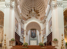 Interior of the Basilica of St. Lawrence the Martyr is the cathedral in Trapani Royalty Free Stock Photos