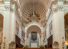 Interior of the Basilica of St. Lawrence the Martyr is the cathedral in Trapani Stock Photography