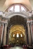 Interior of the Basilica of St. Mary of the Angels and Martyrs, royalty free stock images