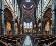 Interior of Basilica of St. Nicholas in Amsterdam, Netherlands Stock Photo