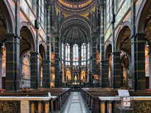 Interior of Basilica of St. Nicholas in Amsterdam, Netherlands Royalty Free Stock Photo