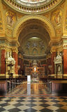 Interior of Basilica of St. Stephen in Budapest Stock Photography