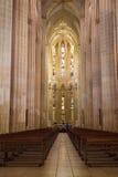 Interior of Batalha monastery, Portugal Stock Images