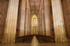 Interior of Batalha monastery, Portugal Royalty Free Stock Images