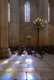 The interior of the Batalha monastery, Portugal royalty free stock image