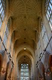 Interior from Bath cathedral. And architecture Royalty Free Stock Image