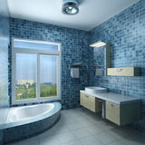 Interior of a bathroom. 3d rendering interior of a modern bathroom Royalty Free Stock Images
