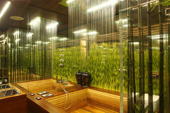 Interior of a bathroom stock photography