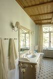 Interior of a bathroom. In rural house Royalty Free Stock Image