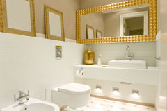 Interior of bathroom. With decorations Stock Photography
