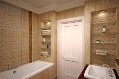 Interior of  bathroom Stock Photos