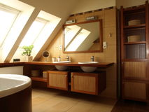 Interior of bathroom Stock Image