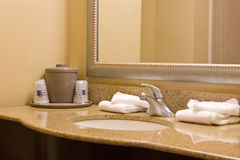 Interior bathroom. Interior hotel bathroom with granite countertops Stock Photography