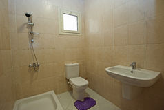 Interior of bathroom in apartment Royalty Free Stock Image