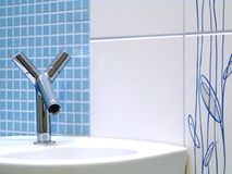 Interior of bathroom - basin and faucet royalty free stock photography