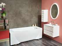 Interior bathroom. With bath and sink Royalty Free Stock Photography