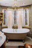 Interior bathroom in classic style Stock Image