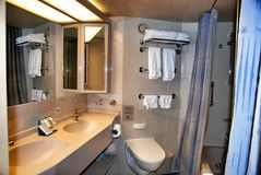 Interior bathroom cruise liner Royalty Free Stock Images