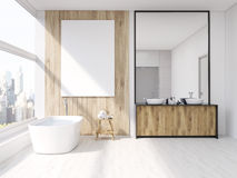 Interior of bathroom with mirror Stock Photography