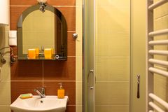 Interior of the bathroom. stock photos