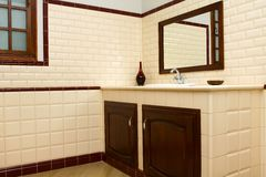 Interior of bathroom in modern house Royalty Free Stock Photos