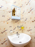 Interior of bathroom in private house Royalty Free Stock Photos